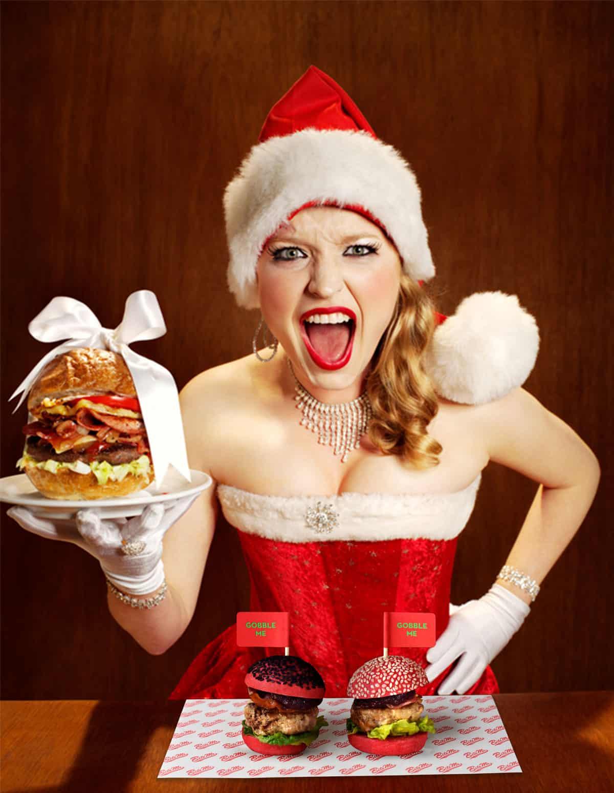 Christmas with burgers