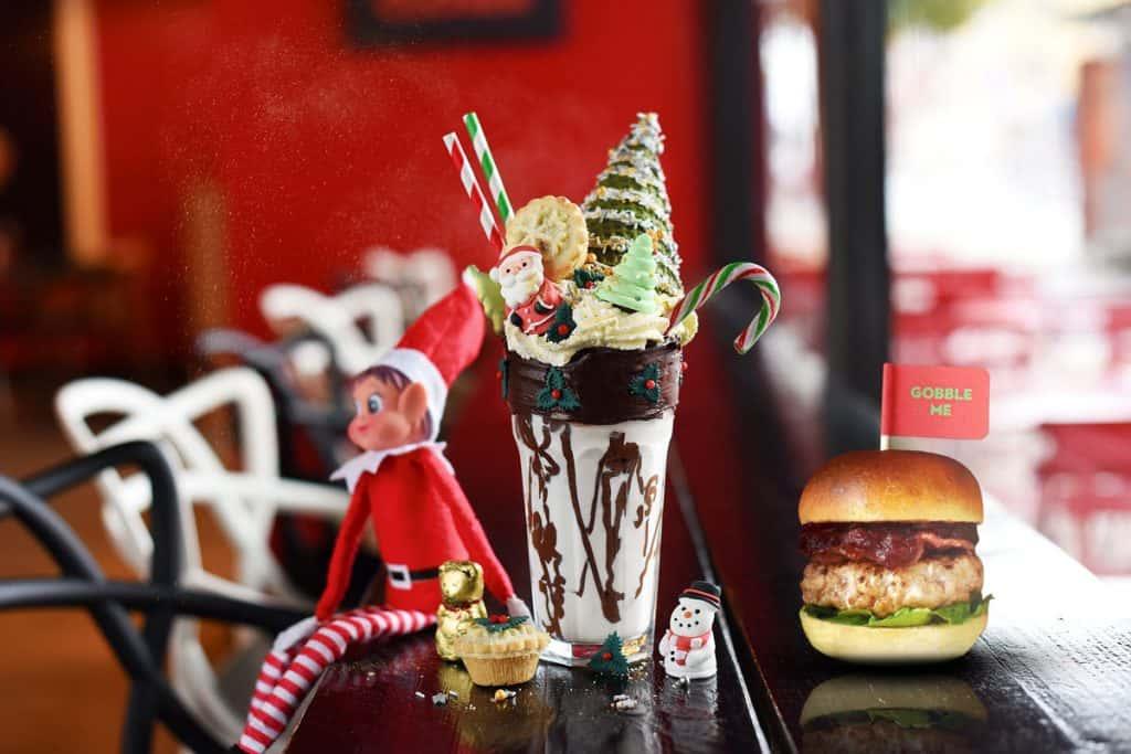 christmas shake with burger